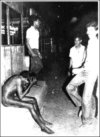 Tamil boy stripped naked & later beaten to death July 1983 Colombo Sri Lanka