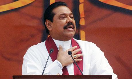 Sri Lanka's president, Mahinda Rajapaksa 2010
