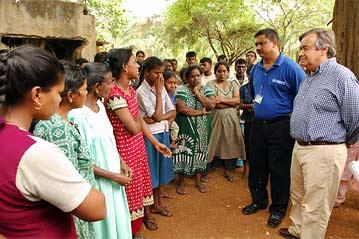 UNHCR Gutierres in Palaiyutu, Sri Lanka Aug 2006