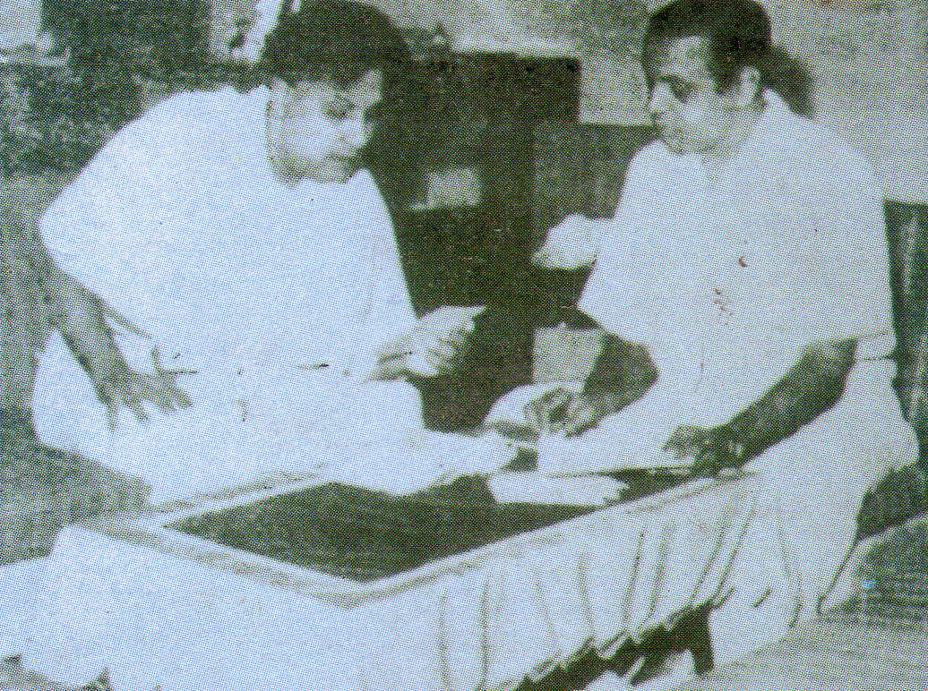 MGR with his ghost writer Vidwan V. Lakshmanan