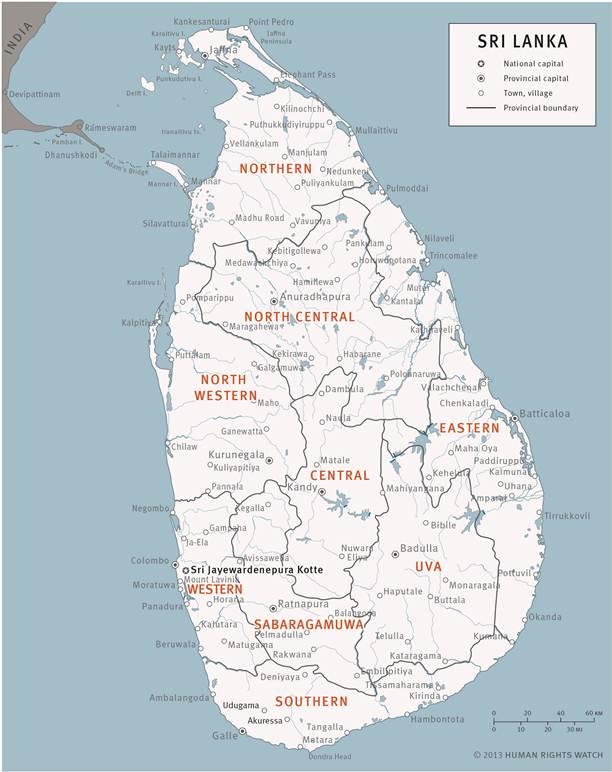 Map Sri Lanka 2013