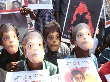 Protests in Chennai on Sri Lankan genocide: Firstpost