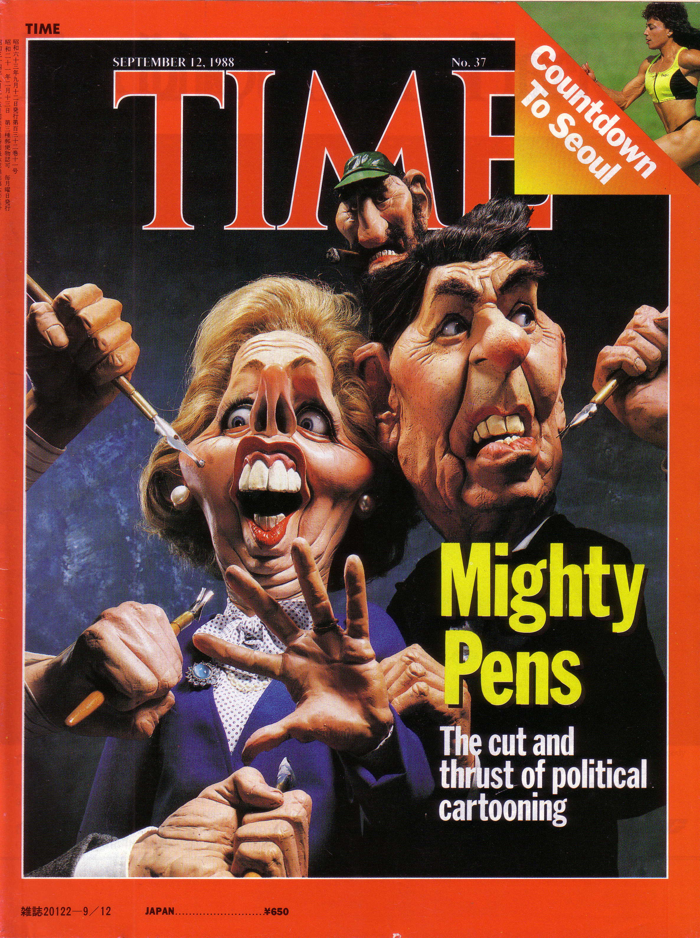 Thatcher and Reagan Time mag. cover 1988