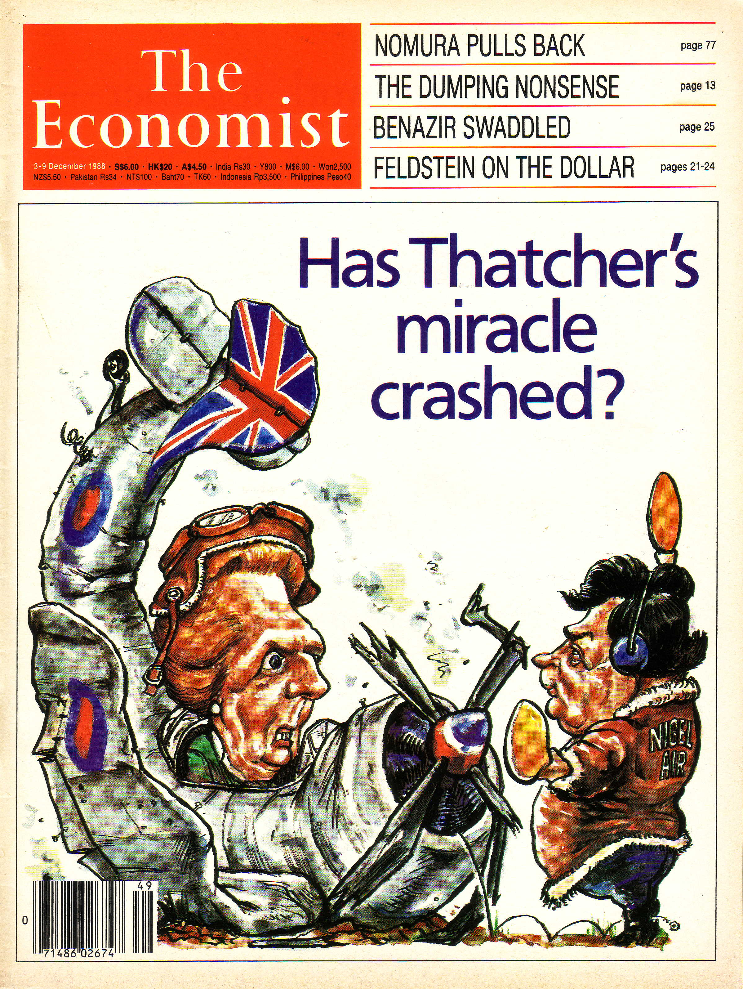 Thatcher s miracle crashed Dec 3 1988