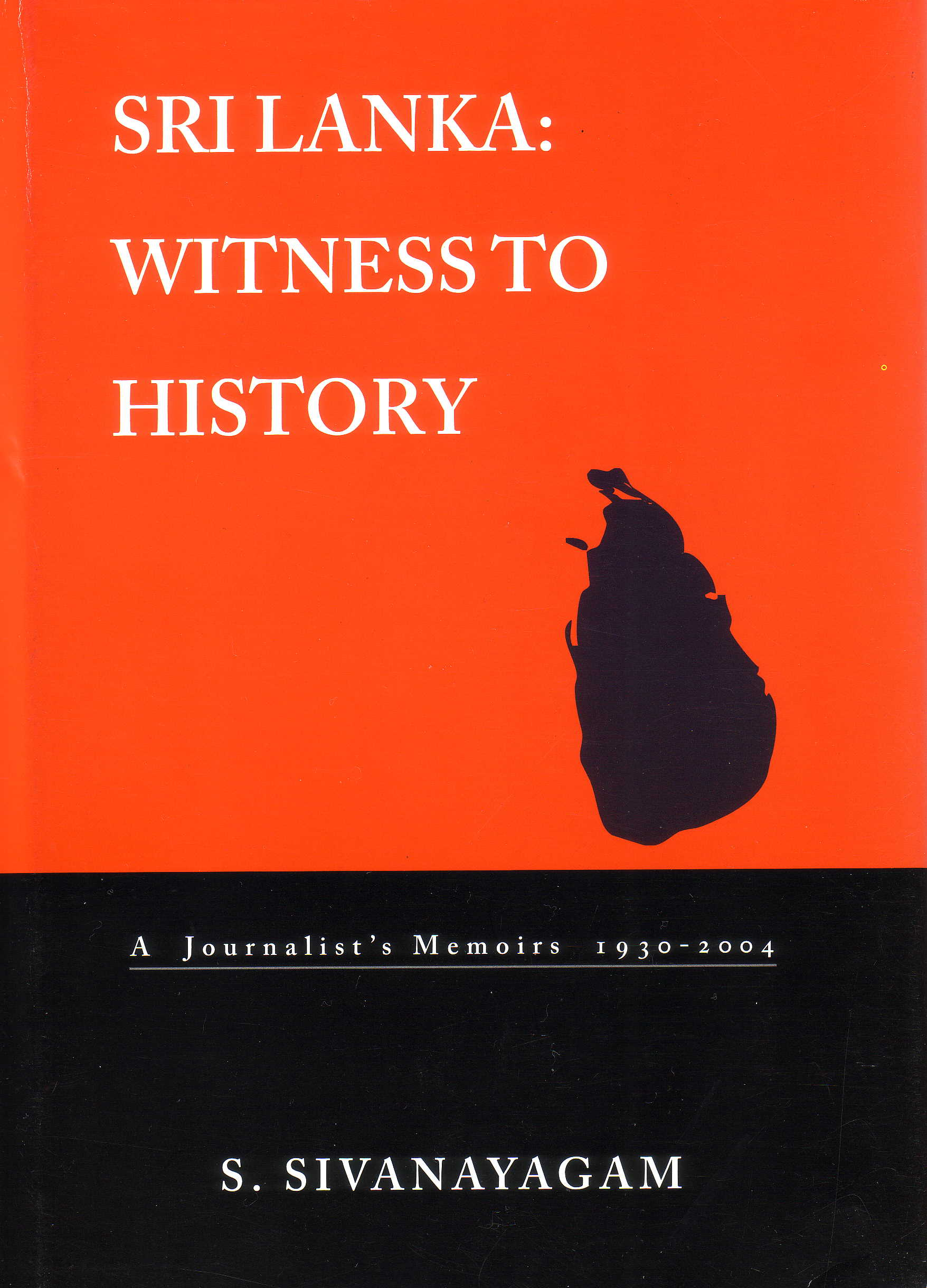 Sri Lanka Witness to History book cover