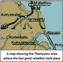 Thaniyootu map 1803