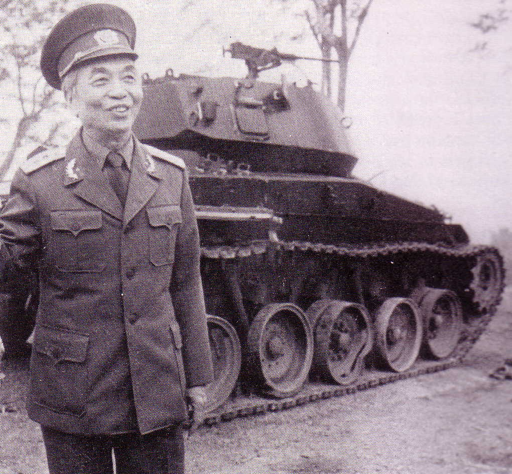 General Giap in front of an old French tank NVA in 1984