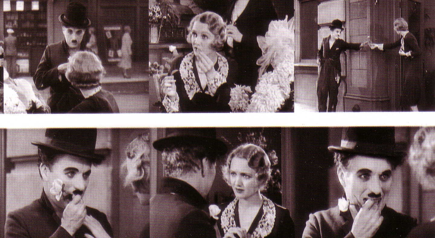 Chaplin with Virginia Cherrill in 'City Lights'