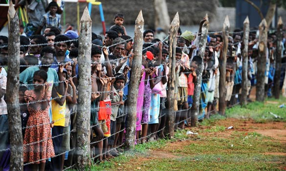 Sri Lankan civilians suffered great hardships and many were displaced during the 25-year civil war