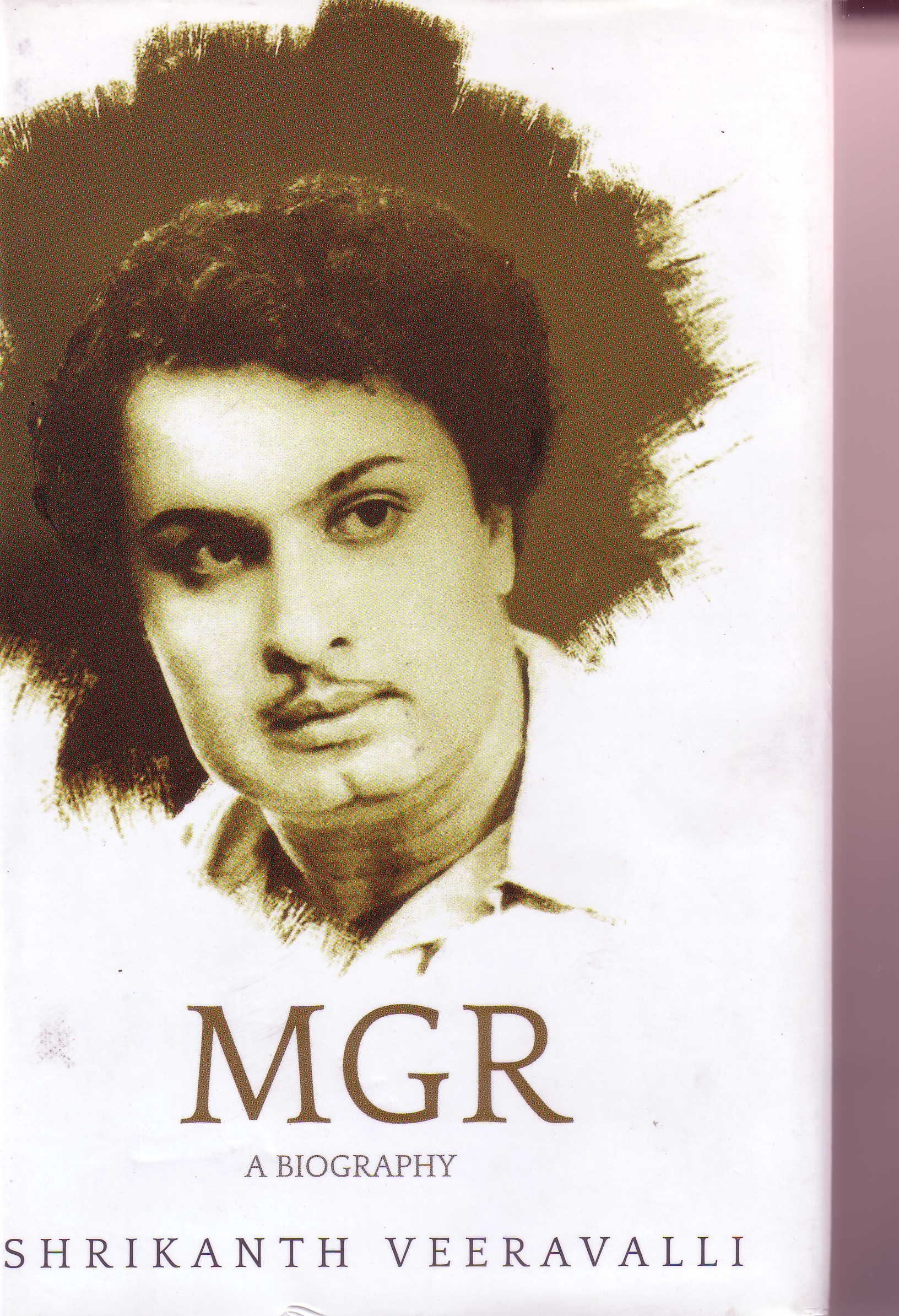 Shrikanth Veeravalli book cover MGR a biography