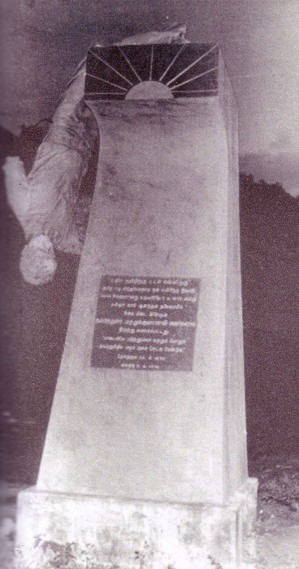 Vandalized statue of Pon Sivakumaran