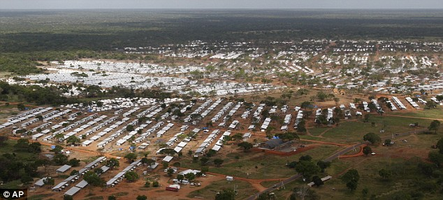 Daily Mail May 25 2009 An aerial view of the displaced persons camps in Vavuniya in Sri Lanka, packed with Tamil refugees