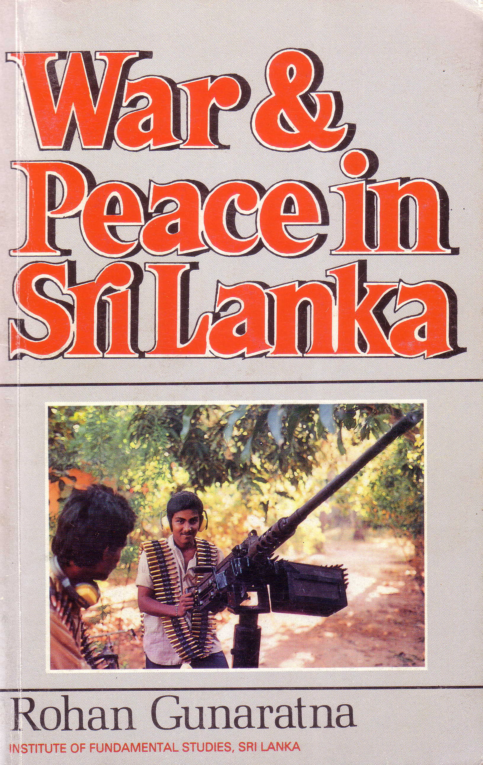 War and Peace in Sri Lanka book cover