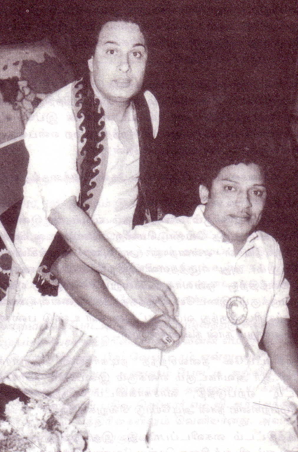 MGR with S.S.Rajendran (in late 1950s)