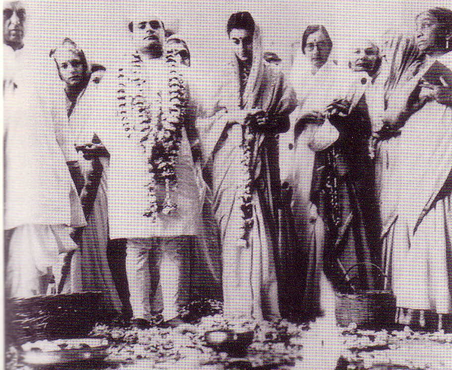 Indira on her wedding day March 26 1942