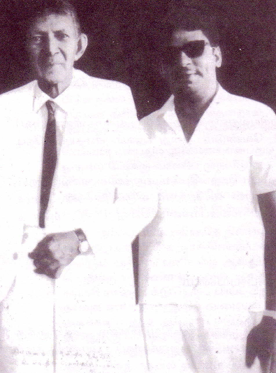 SSR with S.J.V.Chelvanayakam (during his 1966 visit   to Ceylon)