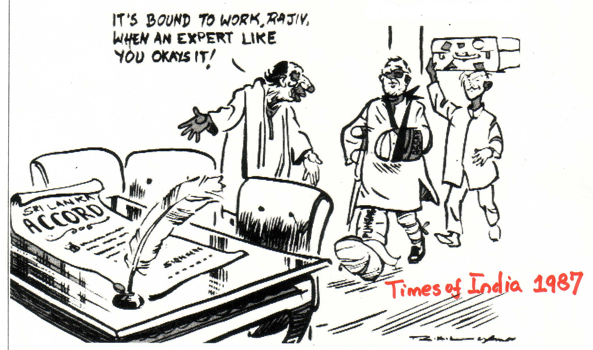 Laxman cartoon 1987