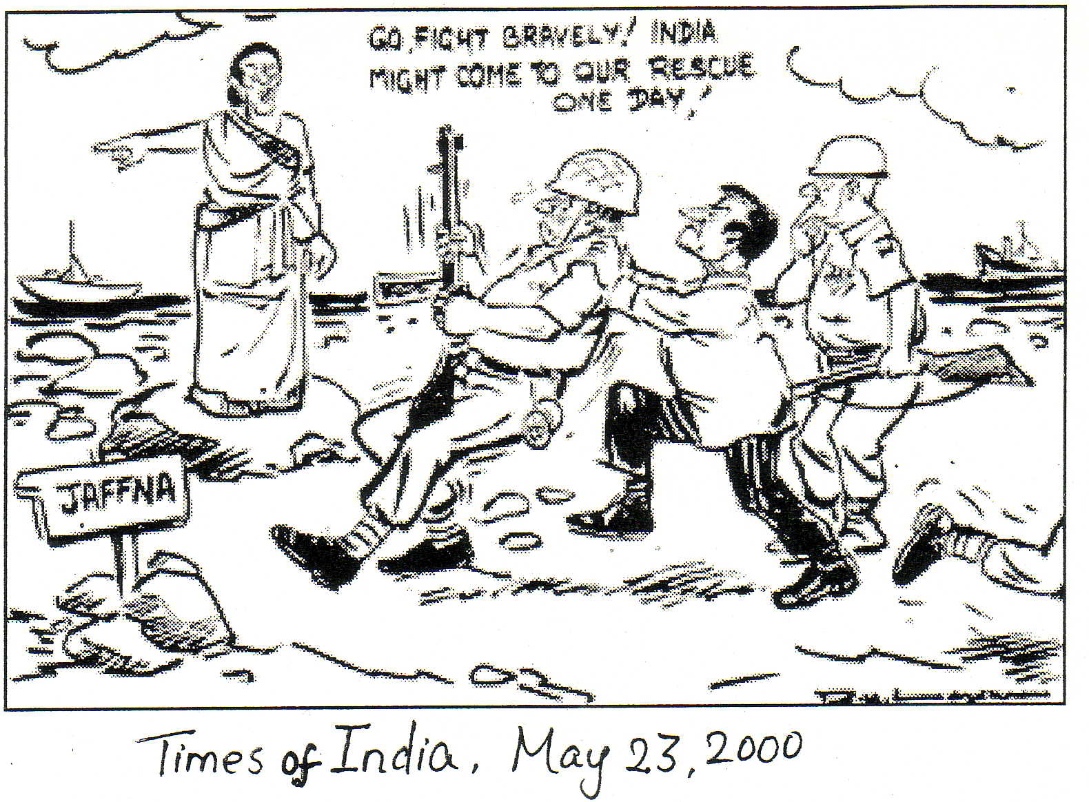 Laxman cartoon 2000