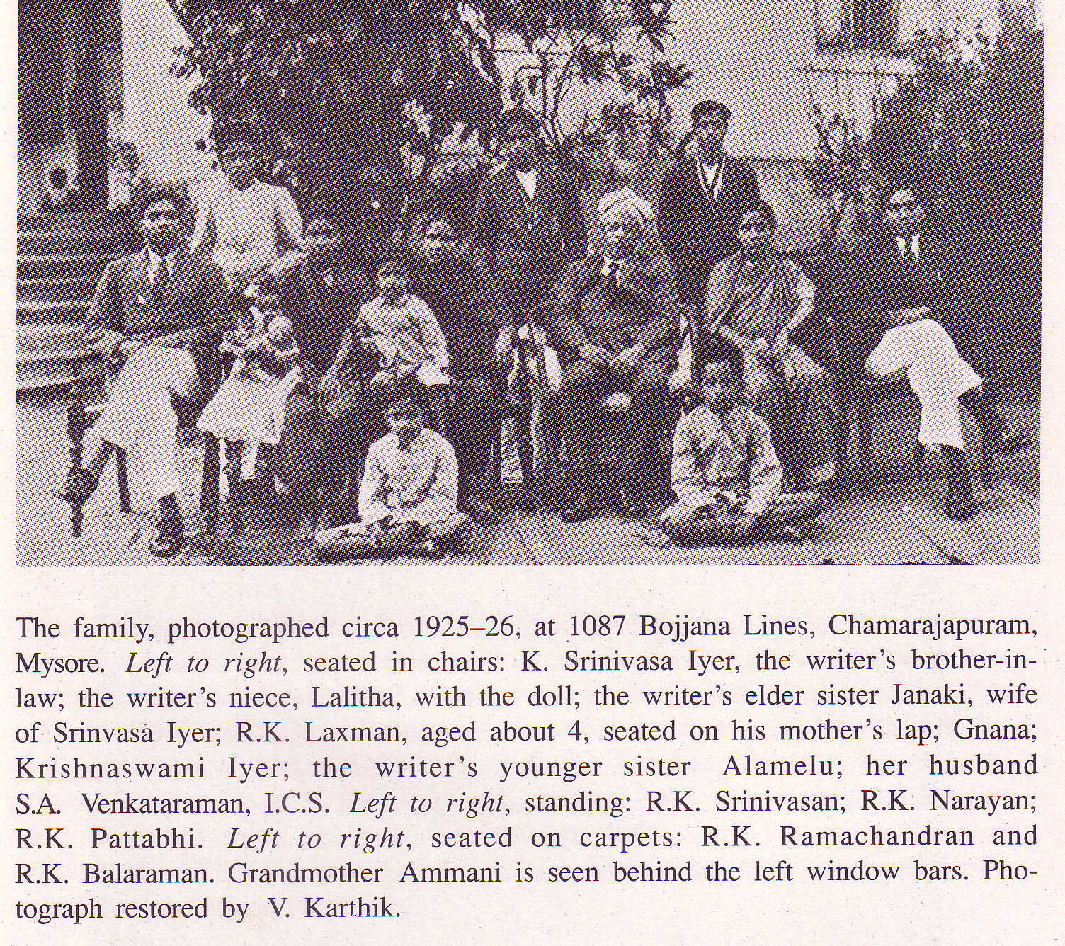 R.K.Laxman and his siblings 1925-26