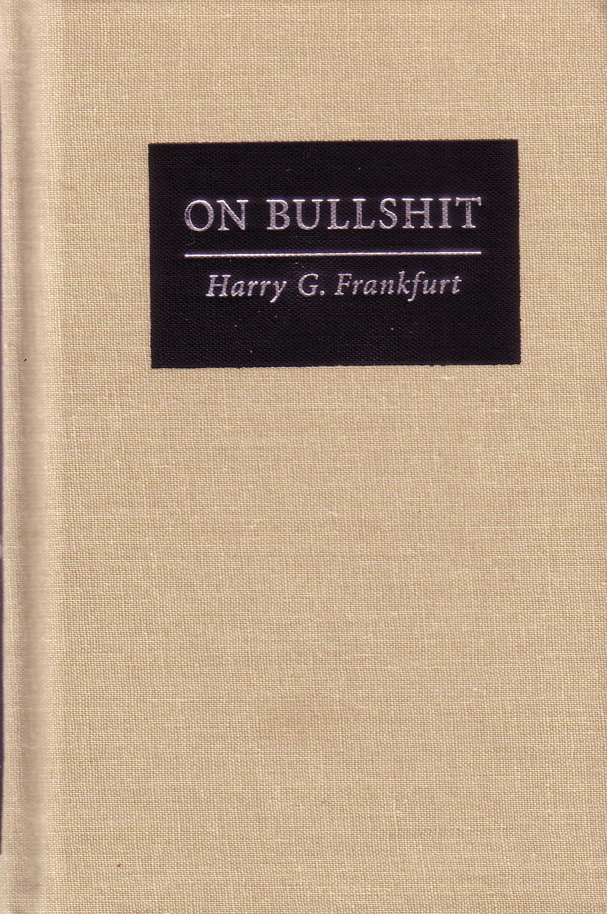 On Bullshit book cover