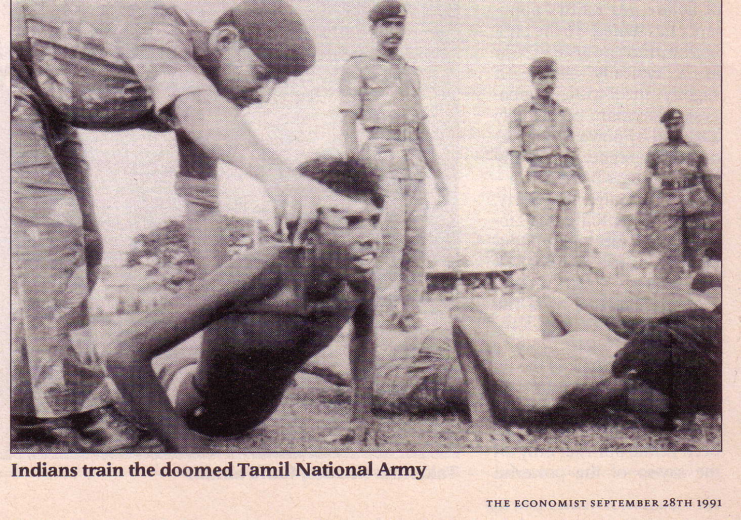 Indians training Tamil National Army
