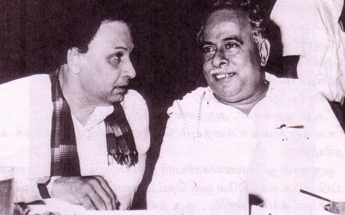 MGR with his mentor Anna