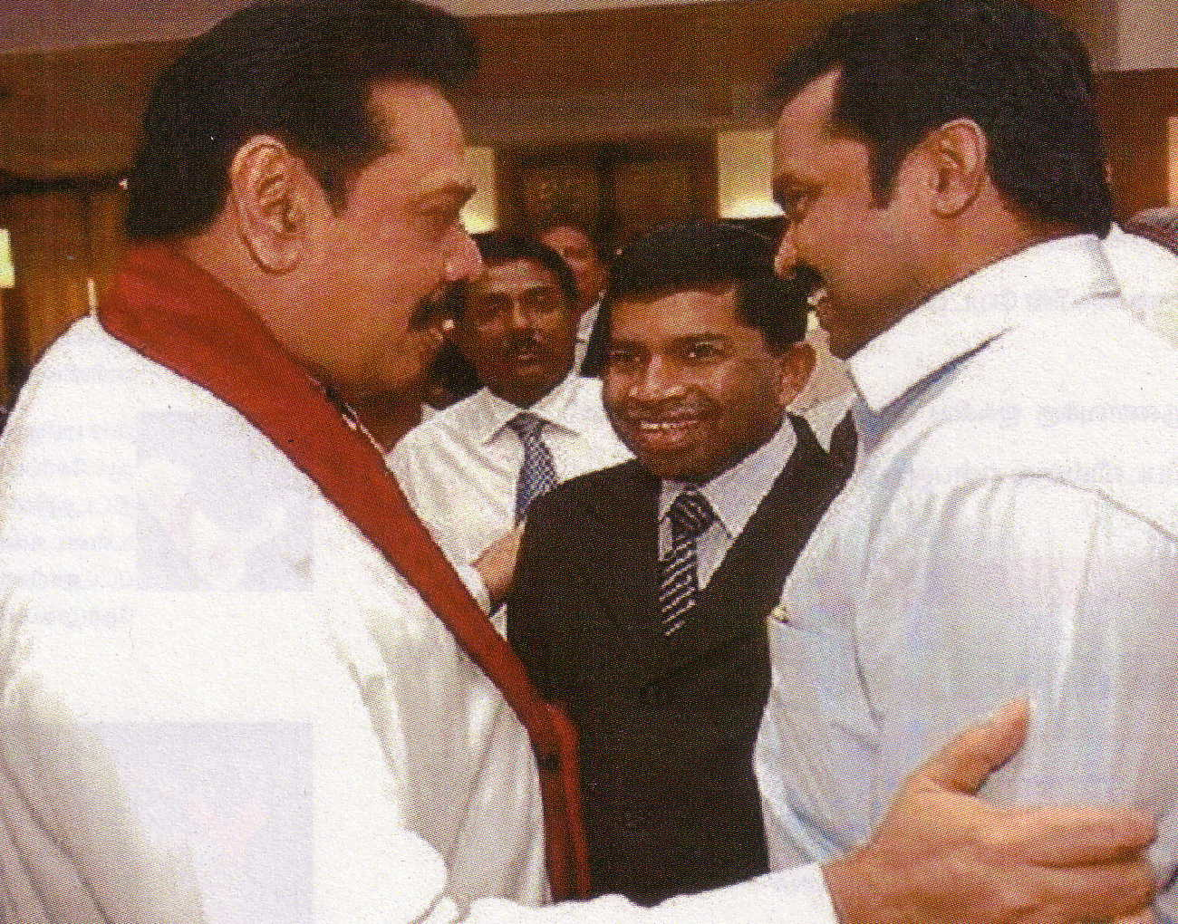 Lt to Rt, Mahinda Rajapaksa, Pillaiyan and Karuna