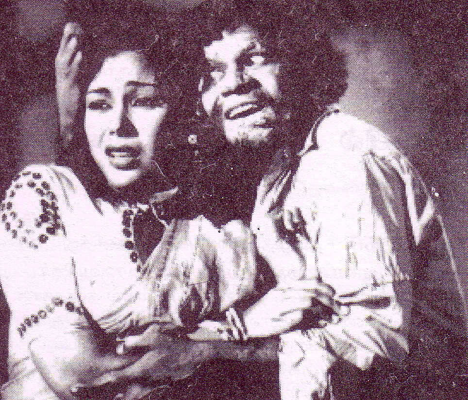 M.N. Rajam (lt) and M.R. Radha(rt) in 'Rathak Kaneer' movie
