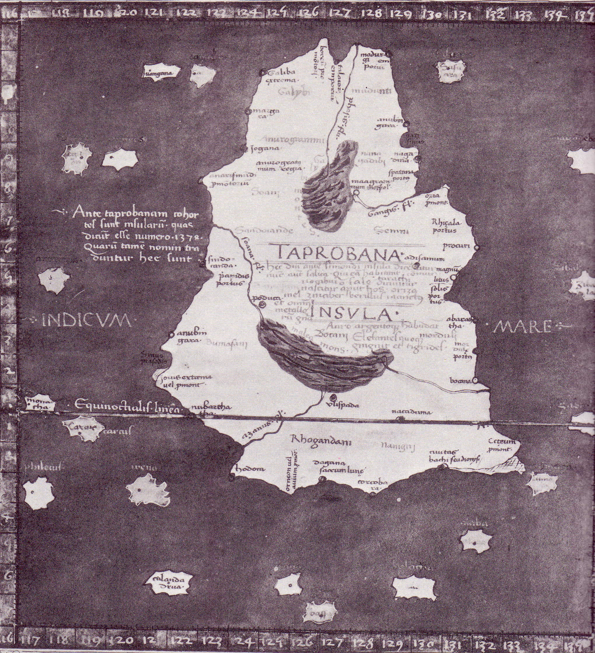Ptolemy's Taprobana Map circa 2nd century AD