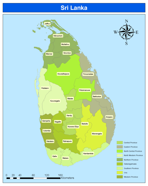 Districts of Sri Lanka