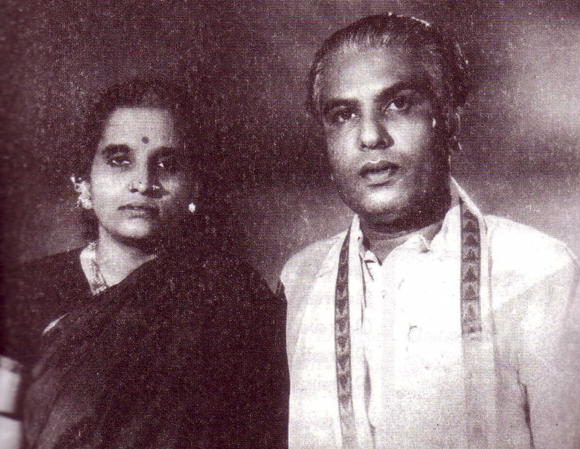 M.G. Chakrapani with his wife Meenakshi