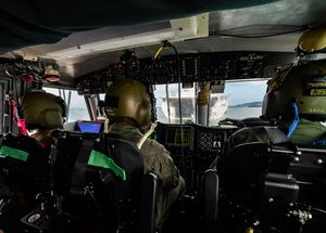 Sailors navigate a landing craft air cushion toward the well deck of the amphibious transport dock ship USS Somerset (LPD 25) during a theater security cooperation exchange with the Sri Lankan military, Nov. 23, 2016. Somerset and embarked 11th Marine Expeditionary Unit are conducting the exchange with Sri Lankan forces in order to enhance tactical skill sets and disaster relief capabilities while strengthening the overall relationship between the two forces