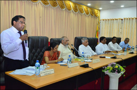 SL PM and NPC CM at Jaffna District Secretariat