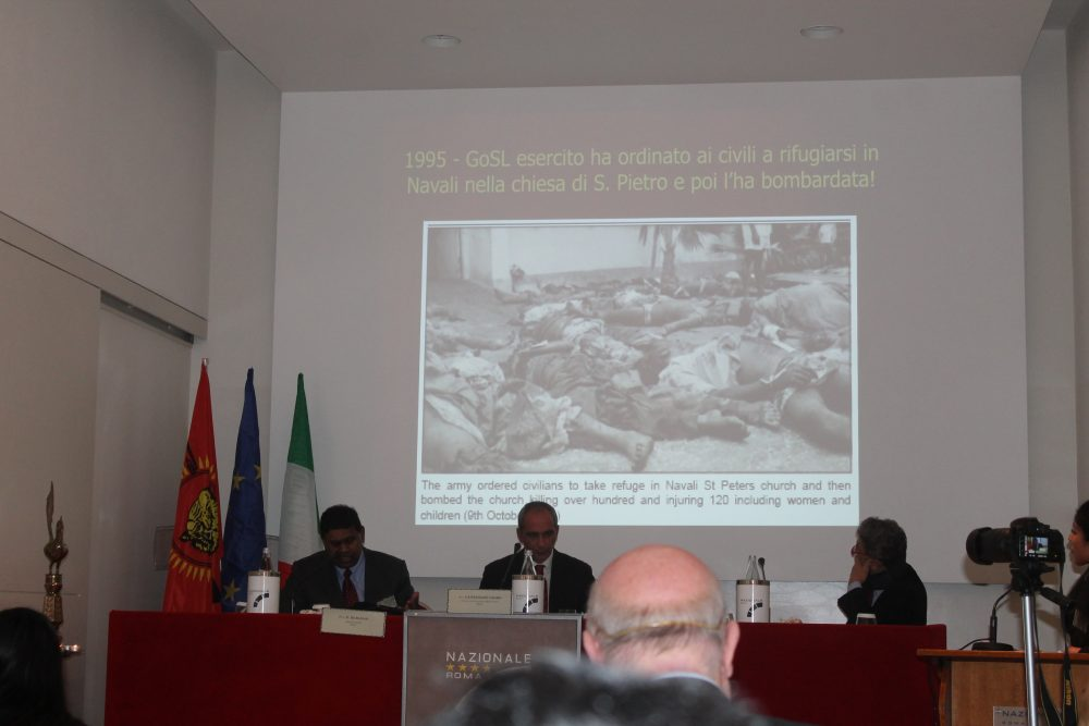 "Rome conference explores ""Seventy Years of Oppression of Eelam Tamils by Sri Lanka"""